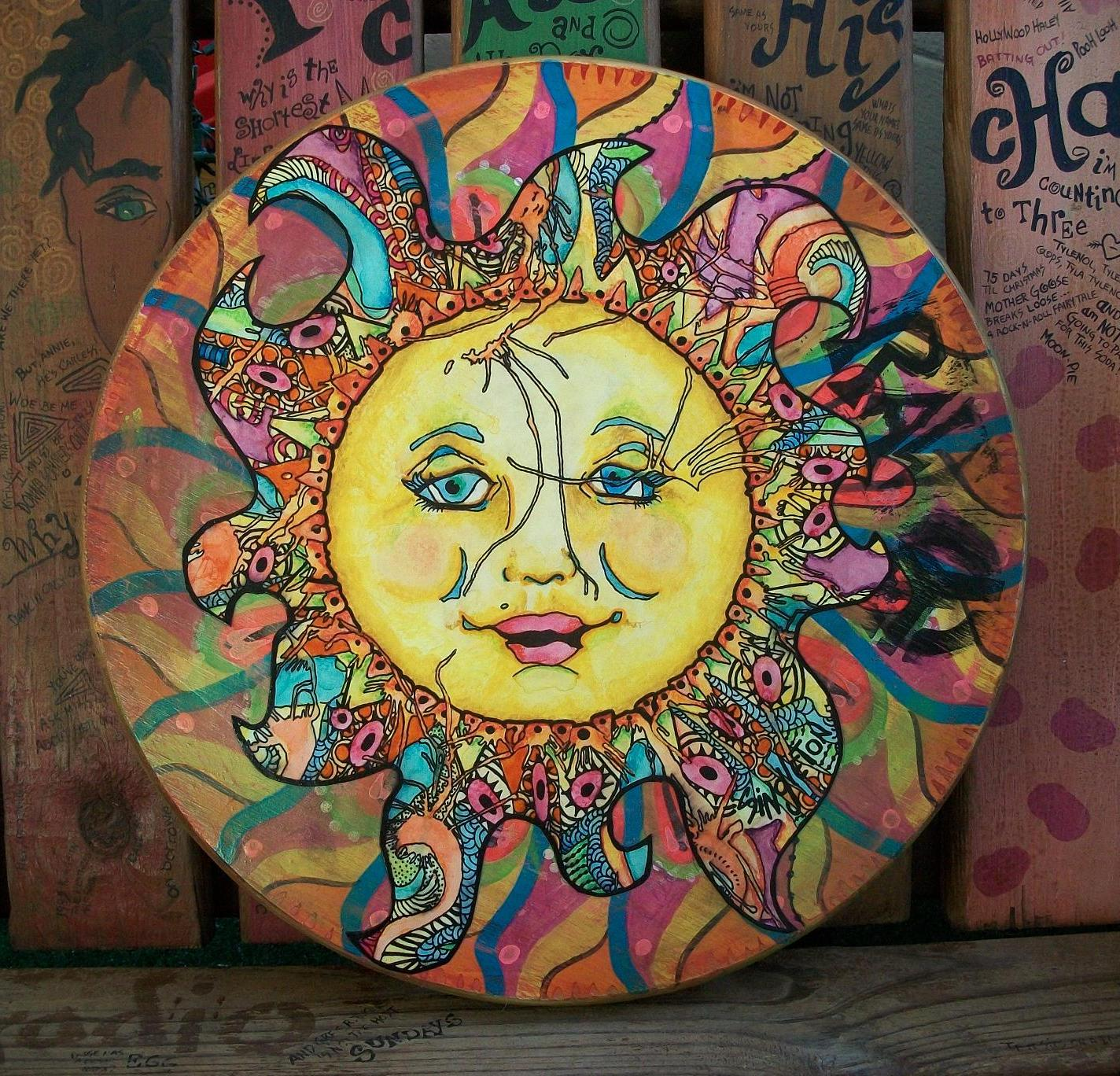 Sun and moon art hippie i started advertising my